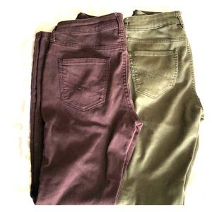 2 pairs of Aeropostale jegging